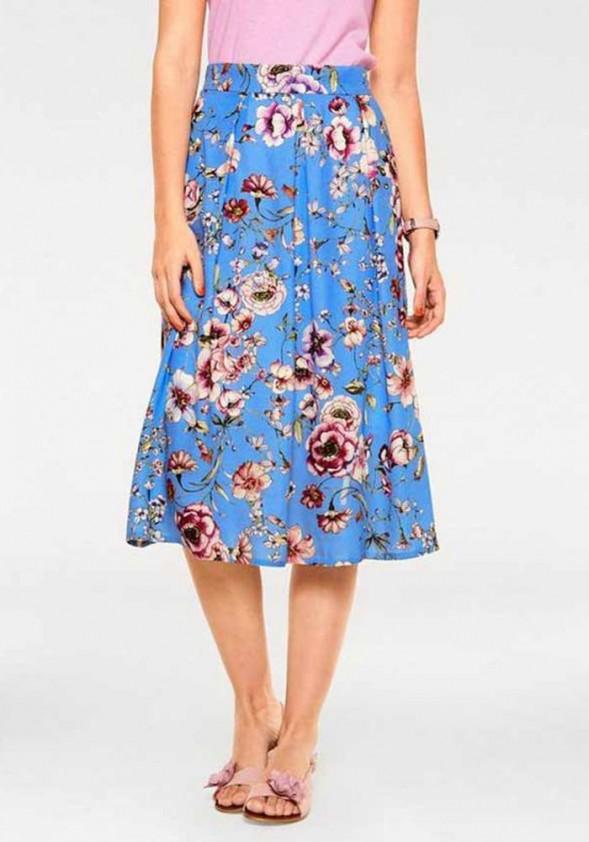 Mėlynas midi sijonas