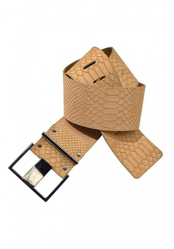 Smėlio spalvos odinis diržas