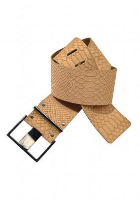 Leather waistbelt, beige