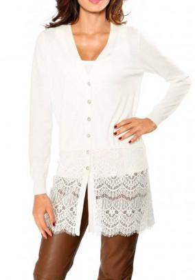 Ilgas baltas megztinis