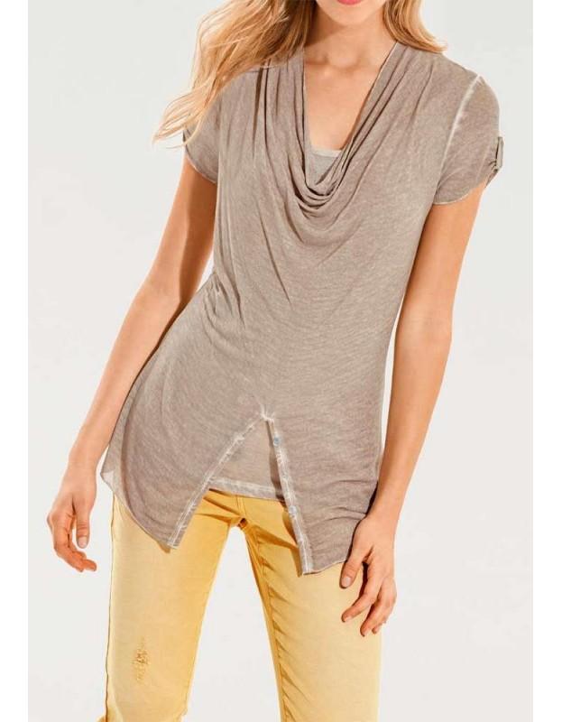 Smėlio spalvos marškinėliai