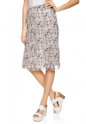 Chiffon print skirt, multicolour