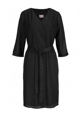 Juodas kimono paltas