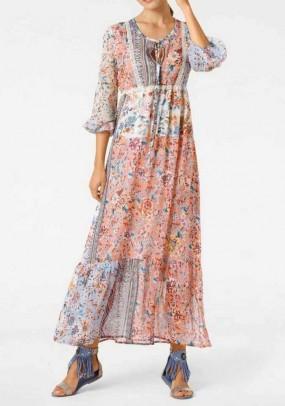 Ilga vintažinė suknelė