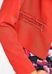 Koralo spalvos kostiumėlis