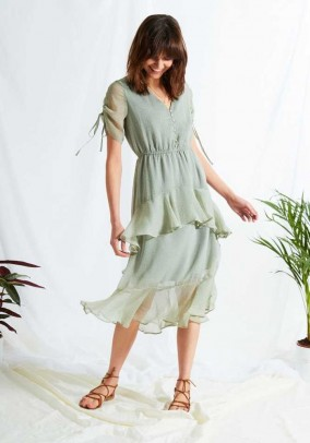 Romantiška suknelė su taškeliais. Liko S ir M dydis