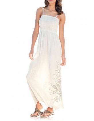 Šviesi ilga suknelė
