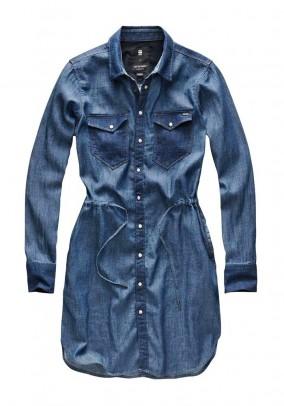 G-STAR mėlyna džinsinė suknelė
