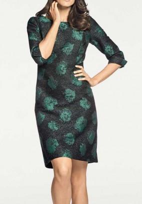 Žalia klasikinė suknelė. Liko 44 dydis