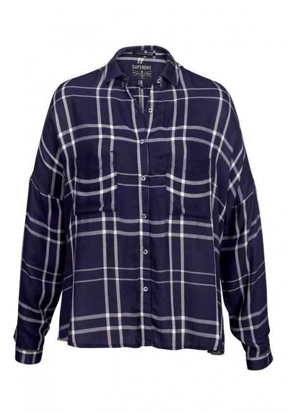 Mėlyni languoti marškiniai