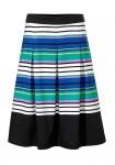 Ryškus dryžuotas sijonas