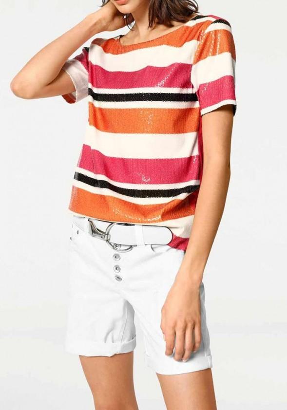 Blizgūs dryžuoti marškinėliai