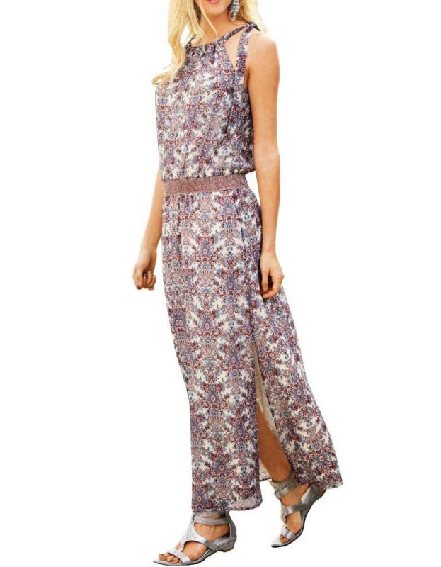 Ilga pastelinė suknelė