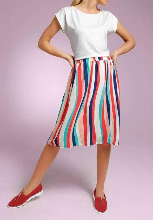 Striped skirt, multicolour