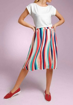 Striped skirt, multicolour