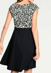 Dvispalvė klasikinė suknelė