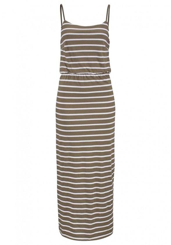 Ilga dryžuota laisvalaikio suknelė