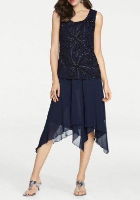 Chiffon skirt, midnight blue