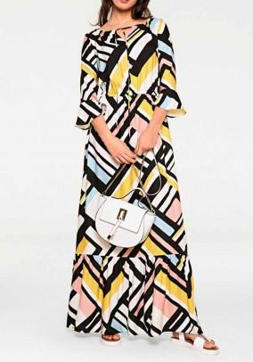 Margaspalvė ilga suknelė