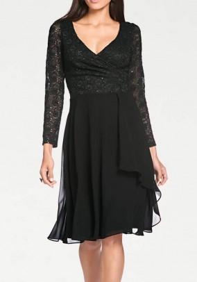 Lace dress, black