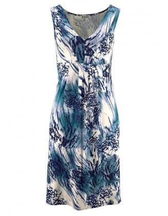 Mėlyna vasariška suknelė