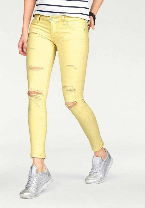 Women's jeans, yellow