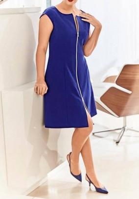 Mėlyna suknelė su užtrauktuku