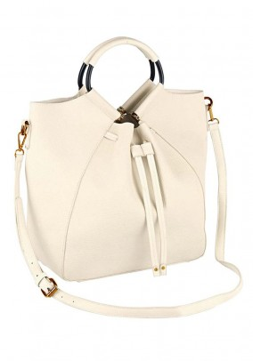 Purse and cosmetic bag, cream