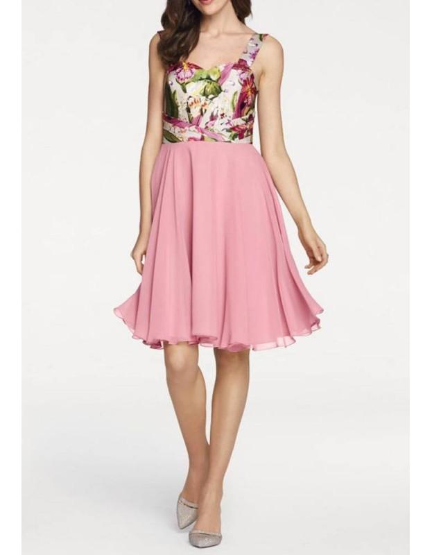 Puošni rausva suknelė