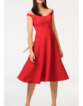 Raudona elegantiška suknelė
