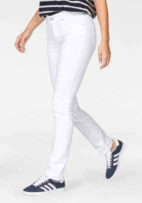 Women's stretch jeans, white, 34inch