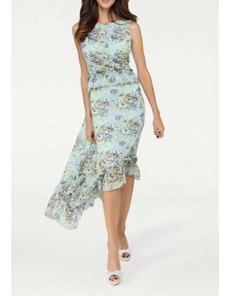 Melsva asimetrinė suknelė