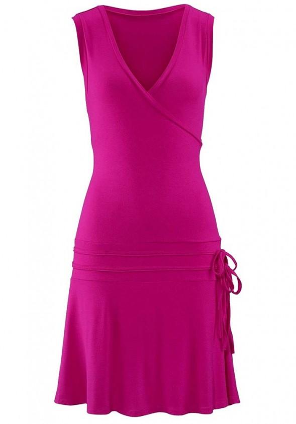 Rožinė laisvalaikio suknelė
