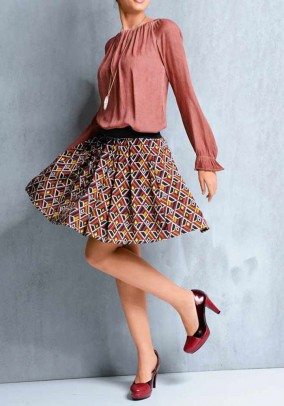 Print skirt, multicolour