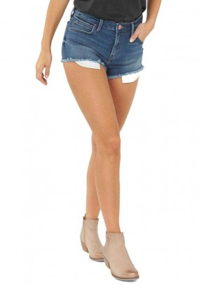 Women's jeans shorts, blue