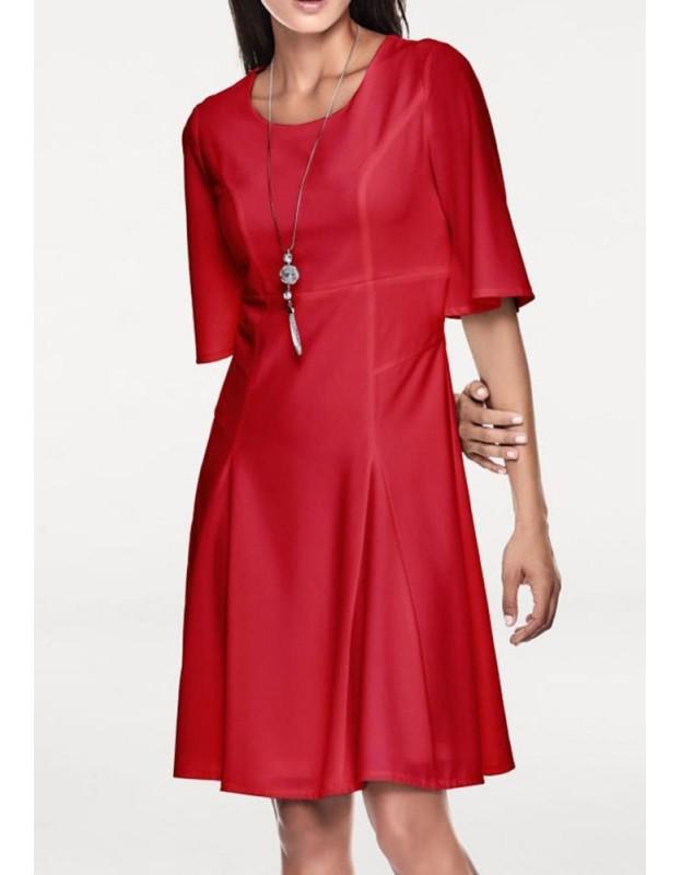 Elegantiška raudona suknelė