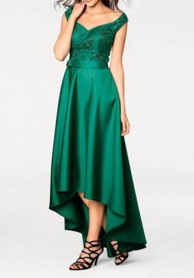 Žalia prabangi suknelė