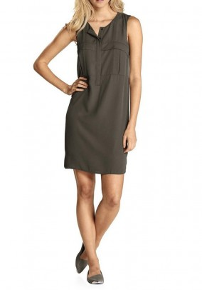 Sheath dress, dark olive