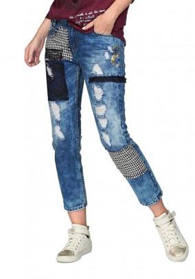 Mėlyni DESIGUAL džinsai. Liko XS ir S dydis
