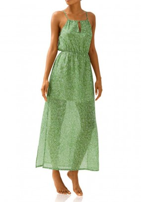 Maxi dress, green-offwhite
