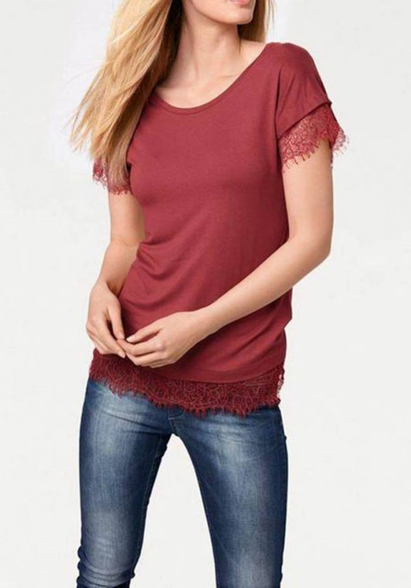 Bordo spalvos marškinėliai