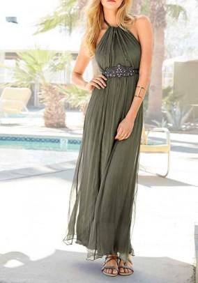 Maxi dress, olive