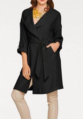 Juodas klasikinis paltukas