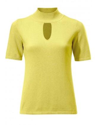 Geltonas megztinis su kašmyru