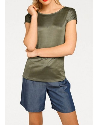 """Chaki spalvos marškinėliai """"Olive"""""""