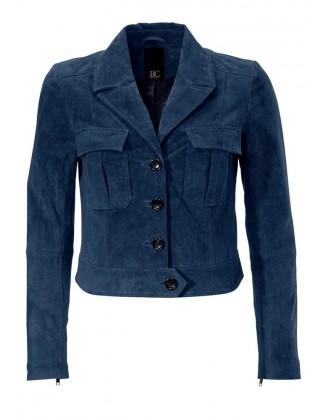 Mėlynas odinis švarkelis