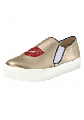 Slipper, gold coloured