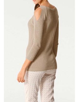 Rusvas originalus megztinis