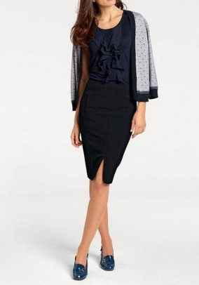 Pencil skirt, navy
