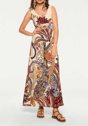 Ilga gėlėta suknelė. Liko 40 dydis